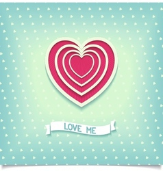 Beautiful retro design heart love me vector image