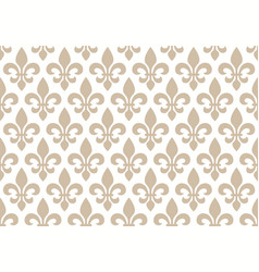 Beige and white seamless floral pattern vector