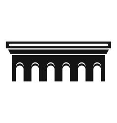 Bridge icon simple style vector