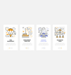 business and management - modern line design style vector image