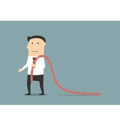 Businessman going with meaty sausages vector