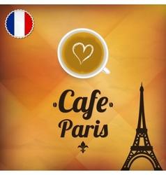 Cafe Paris vector image