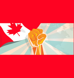 canada fight and protest independence struggle vector image