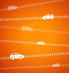 Car abstract background with stripes vector image