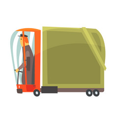 Cartoon american truck cargo transport vector