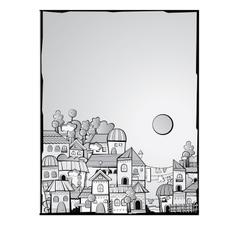 cartoon construction day town vector image