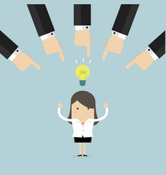 choosing the best businesswoman idea vector image