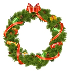 Christmas Wreath with Candy vector