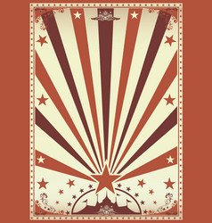 circus vintage brown poster vector image