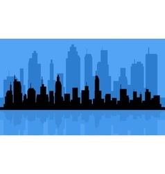 City Skyline Background vector image