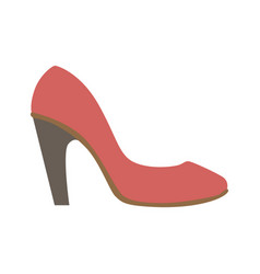 Classy red stiletto shoe isolated footwear flat vector