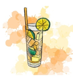 cocktail Long Island Ice Tea vector image