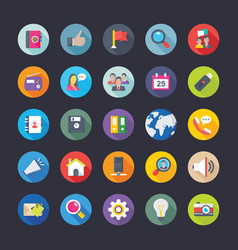 Collection network and communications icons vector