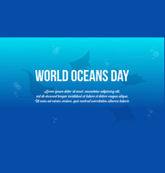 Collection world ocean day background style vector