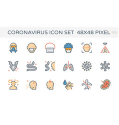 coronavirus icon vector image