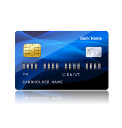 Credit card with security combination code vector