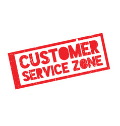 Customer service zone rubber stamp vector