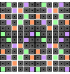 Design seamless colorful mosaic checked pattern vector image