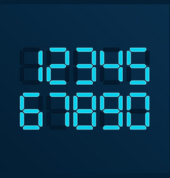 digital numbers vector image