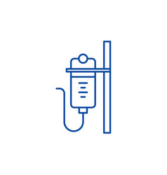 dropper line icon concept dropper flat vector image