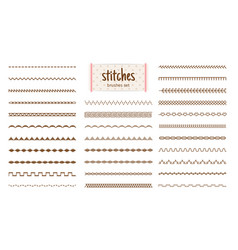 Fabric stitches textures vector