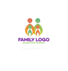 Family logo consisting of in simple figures vector