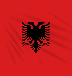 Flag albania swaying in the wind realistic vector