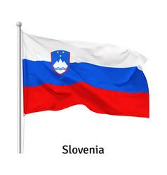flag republic slovenia vector image