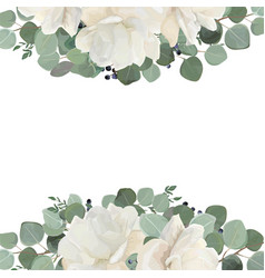 floral card design with garden white creamy vector image