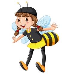 Girl in bee costume vector image