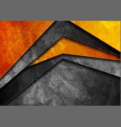 grunge tech material orange and dark grey vector image