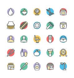 Hair Salon Cool Icons 3 vector image
