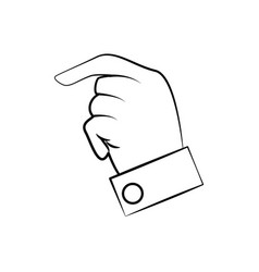 Hand man finger line vector