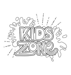 happy kids zone word label with paint splash vector image