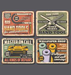 House repair tools toolbox rasp file wallpaper vector