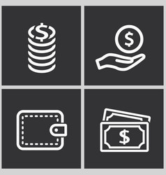 investments money icon vector image