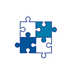jigsaw puzzles icon vector image