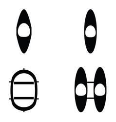Kayak icons vector