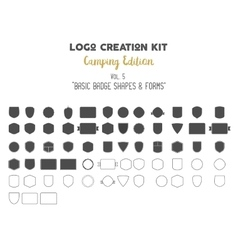 Logo creation kit bundle Camping Edition set vector image