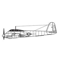 messerschmitt me410 hornisse vector image