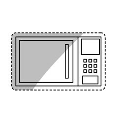 Microwave kitchen appliance vector image