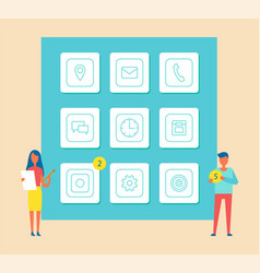 mobile phones development vector image