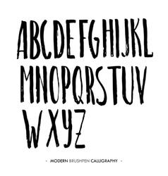 Modern ink Alphabet font vector image