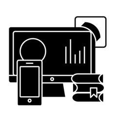 online education icon sig vector image