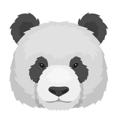 Panda icon in monochrome style isolated on white vector