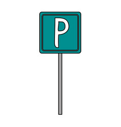 Parking street sign vector