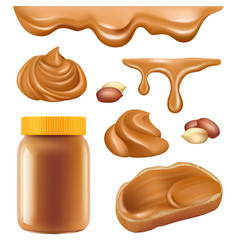 peanut butter healthy dessert chocolate protein vector image