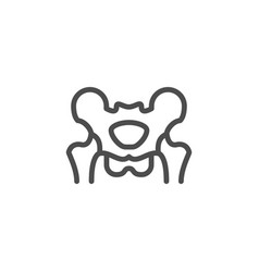 Pelvis line icon vector