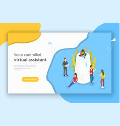 personal voice isometric flat conceptual vector image