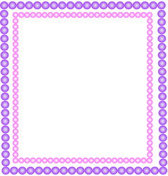 Pink and purple beads vector